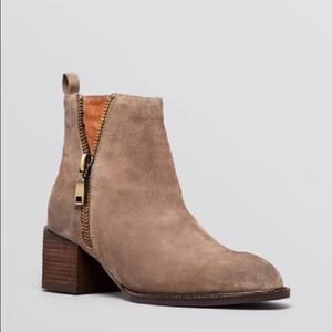 NWBox Jeffrey Campbell Tan Suede Booties