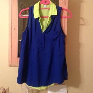 Blue and free layering blouses from Old Navy
