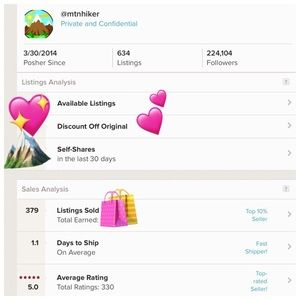 mtnhiker Other - 💖 Shop With Confidence 💖 My Closet Stats