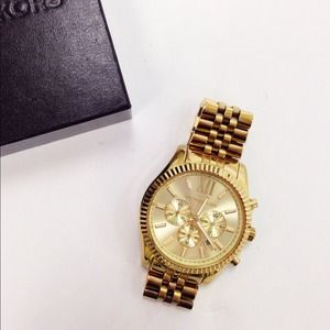 Michael Kors Accessories - Michael Kors Lexington Oversized Gold Watch