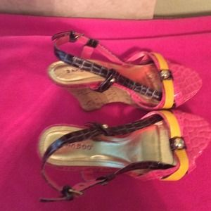 Bamboo wedge sandals 8