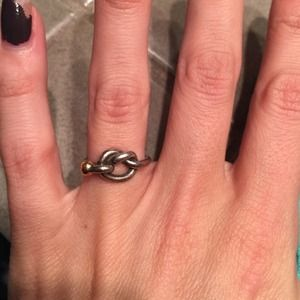 46eb038de2315 Tiffany & Co. Love knot ring.