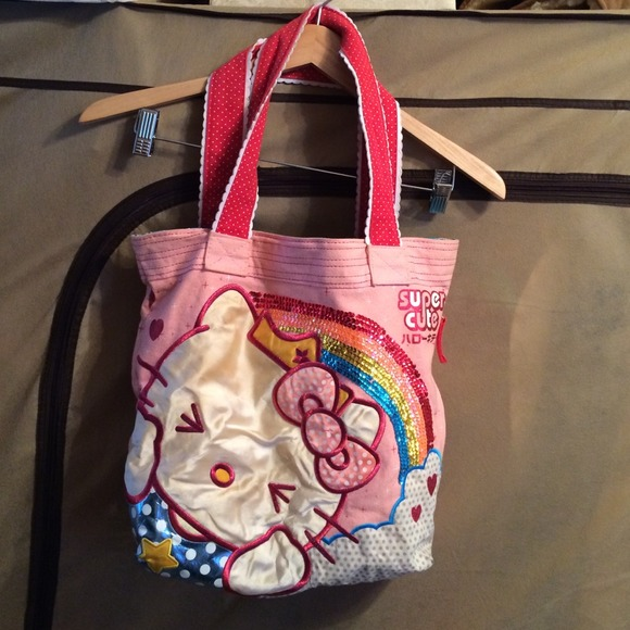 03dc6af58fe Hello Kitty Handbags - Hello Kitty Tote bag with sequined rainbow