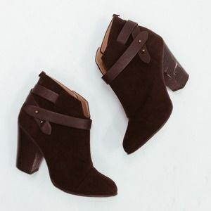 Forever 21 Boots - Chocolate Brown Ankle Booties