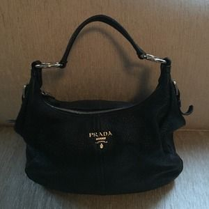 prada hobo bag blue