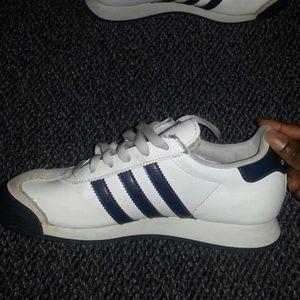 adidas samoa white navy