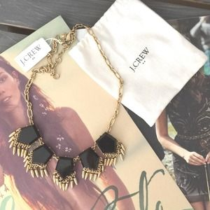 HOST PICK NWT J. Crew geo faux onyx necklace.