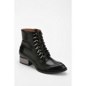 205Jeffrey Campbell Black Lace Up Boots