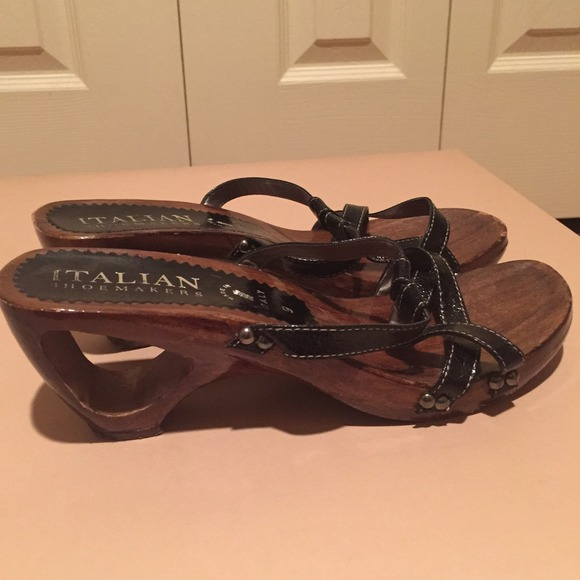 9d324edc2cb1 Source · Italian Shoemakers Shoes Wood Italian Sandals Made In Italy  Poshmark