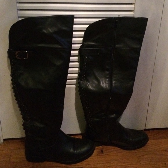 1ac326ea956 Lane Bryant Boots - Lane Bryant wide calf black over knee boots
