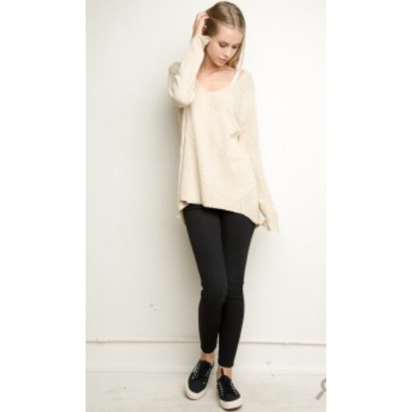Brandy Melville - Brandy Melville cream oversized sweater from ...