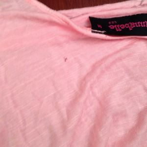 d342a67dd Tops | Pink Rouched Side Open Shoulder Shirt | Poshmark