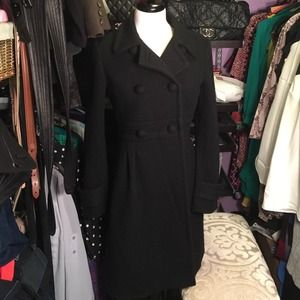 J.Crew Beautiful Black Wool coat size 4