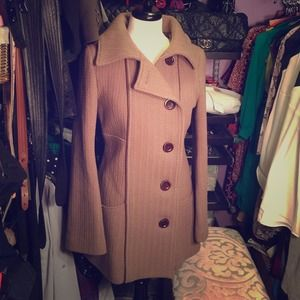 Authentic Mackage Wool and Leather trimmed coat