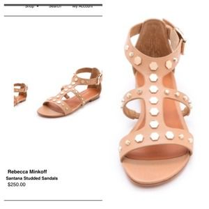 Rebecca Minkoff studded nude sandals