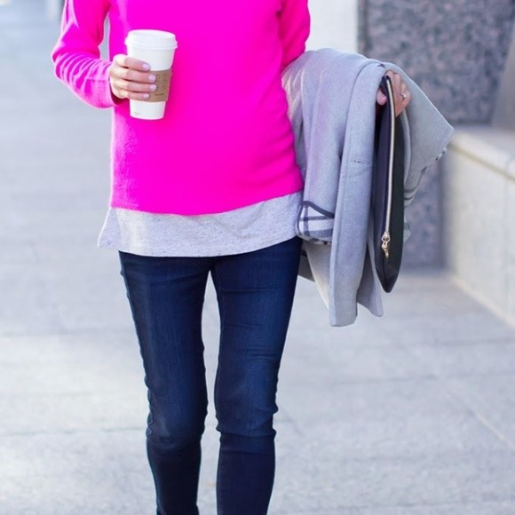 63% off Halogen Sweaters - Hot pink cashmere sweater from !'s ...