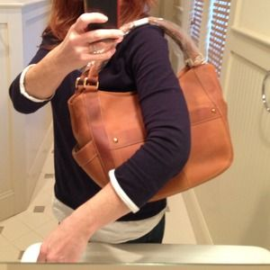 JCrew leather shoulder bag
