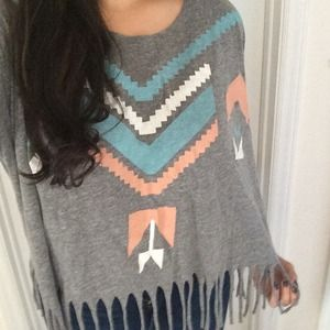 Urban Outfitters Tribal fringe tee