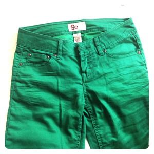 Denim - Green skinny jeans