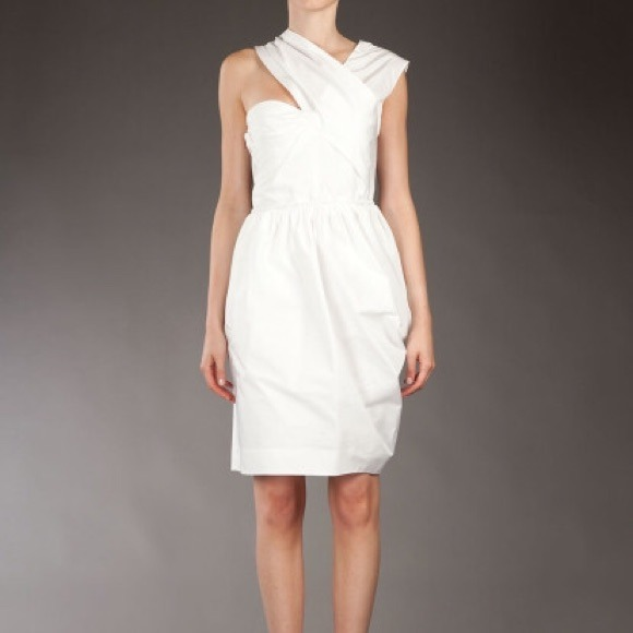 Carven Dresses | Host Pick Asymmetric Taffeta Dress | Poshmark