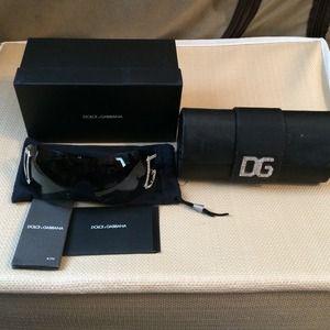 Dolce & Gabanna Luxottica Black Bling Sunglasses