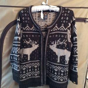 Fairaisle reindeer sweater in large
