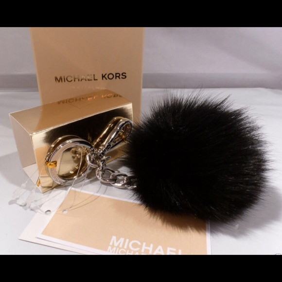 c748479473dd7 Michael Kors Fox Fur Ball keychain.