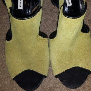Kathryn Amberleigh Shoes - Suede Block Heel Sandal