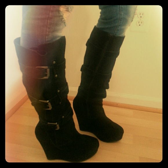 51 bakers boots suede knee high boots black from