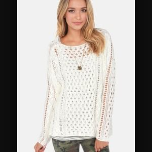 Lulu's Sweaters - 👏🏻2x HP👏🏻 Black Swan Brigade Ivory sweater, M