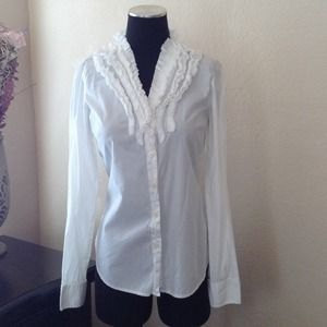 J. Crew Ruffle Button-Down
