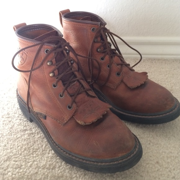 91% off Ariat Boots - Ariat lace up work boots from Jaime's closet ...