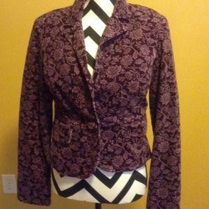 Cute blazer purple  w/ lavender  floral print