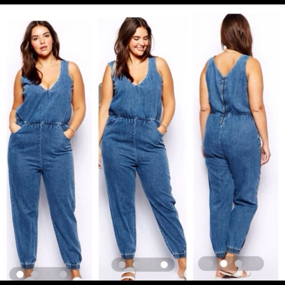 90103655e2f4 ASOS Denim - Asos Plussize Denim Jumpsuit