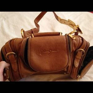 Junior Drake leather satchel