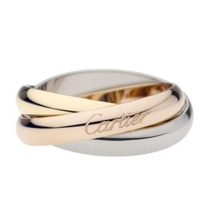 Excellent Cartier Trinity Gold 3 band Ring 51 5.5
