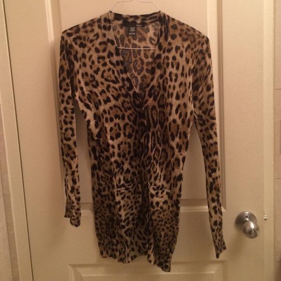 70% off Ellison Sweaters - Leopard cotton and linen cardigan. from ...