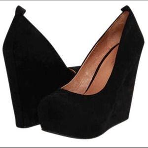ALDO Shoes - Aldo Black Calcagni Suede Wedges size 37 (7)