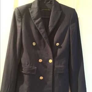 Zara Jackets & Blazers - Zara dark blue suit jacket