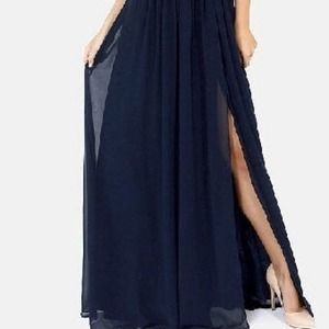 fa40db88ab57e Dresses   Navy Greek Style Chiffon Maxi Dress   Poshmark