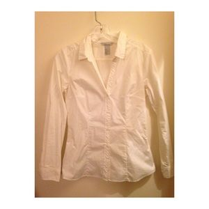 Dress shirt button down white