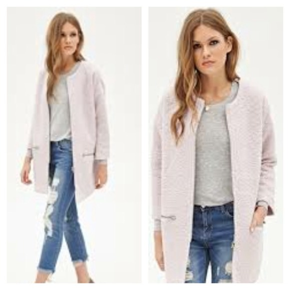 Forever 21 - SALE PRICE! NWT pink collarless boucle jacket from