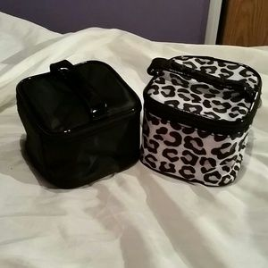 Other - Cheetah and Black make up bags