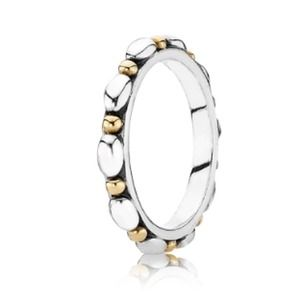 Authentic Pandora Two-Tone Ring