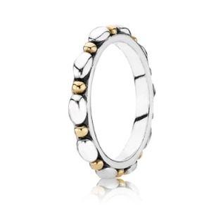 Authentic Pandora Two-Tone Ring