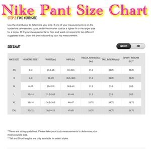 Producción ángulo Hito  nike sweatpants size chart women's off 52% - www.ncccc.gov.eg
