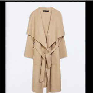 Zara camel wrap coat. Just sharing 