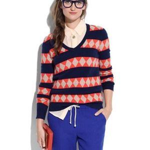 Merino wool graphic pattern sweater