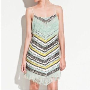 Zara Dresses & Skirts - Zara Sequin Fringe Flapper Beaded Dress