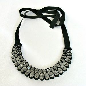 Ribbon Bib Statement Necklace